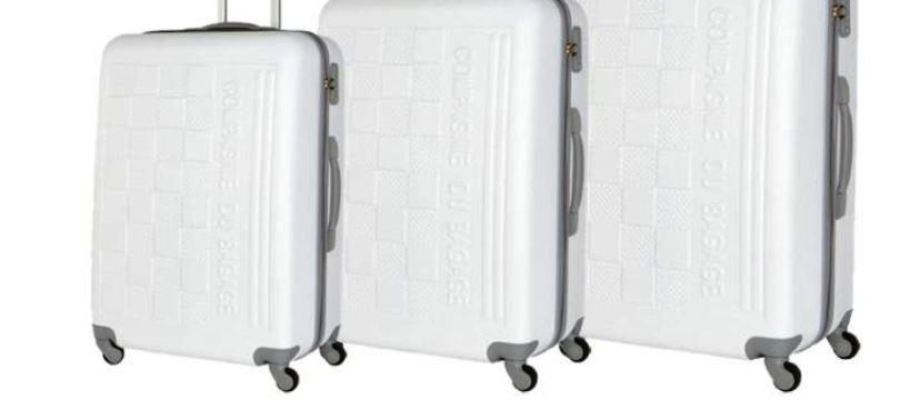 bagage blanc gris ou valise noir au meilleur prix mon bagage cabine. Black Bedroom Furniture Sets. Home Design Ideas